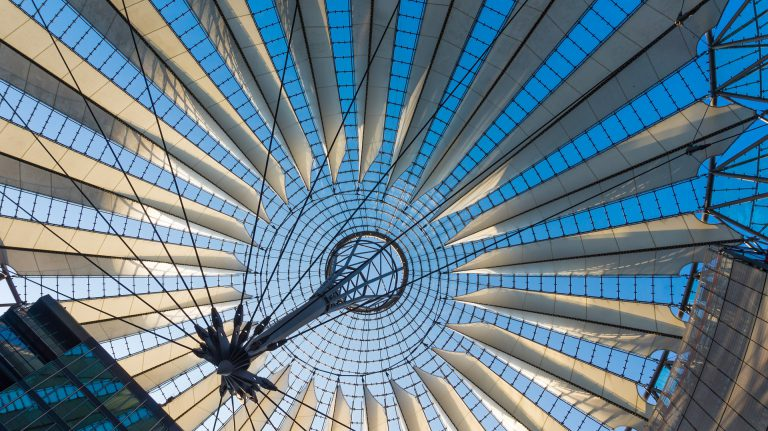 Dachkonstruktion Sony Center Berlin Potsdamer Platz